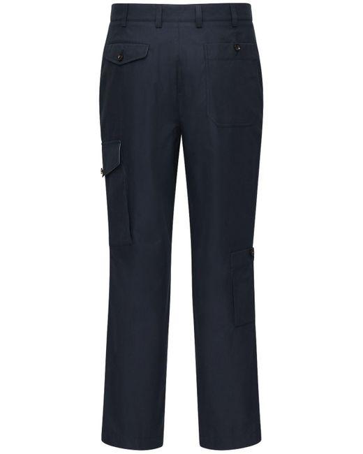 メンズ Alexander McQueen コットンカーゴパンツ 20cm Blue