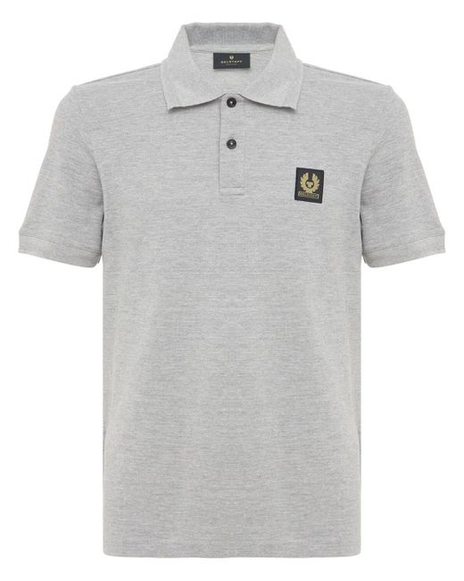 Belstaff Polohemd Mit Logo-patch in Gray für Herren