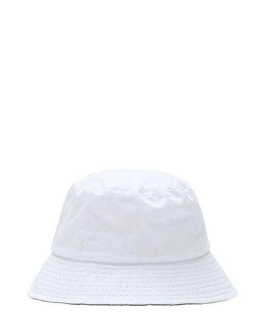 メンズ Kangol コットンバケットハット White
