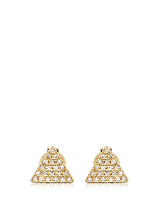 EF Collection - Metallic Triangle Diamond Stud Earrings - Lyst