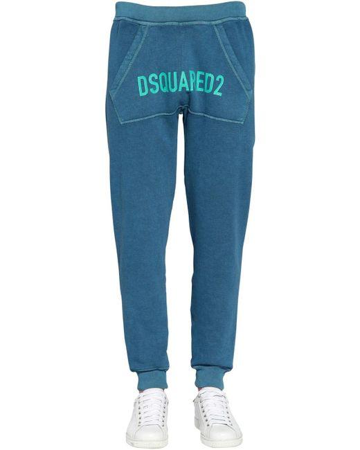 メンズ DSquared² コットンジャージースウェットパンツ Blue