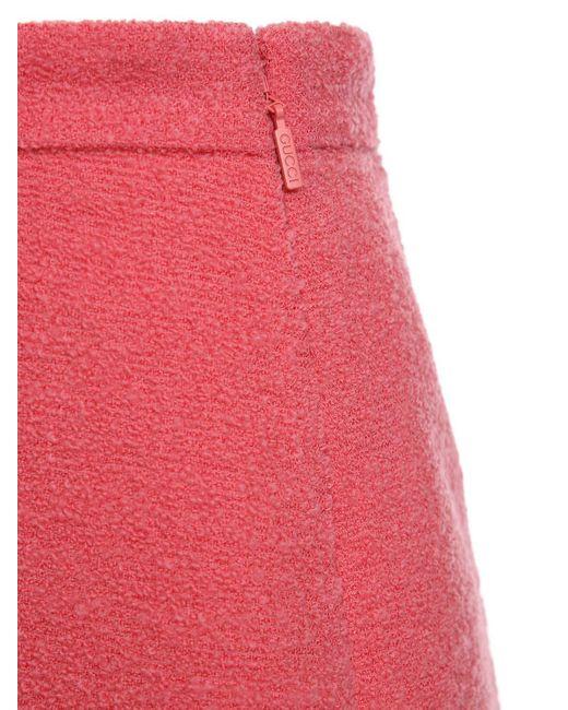 Юбка Из Смешанной Шерсти Gucci, цвет: Pink