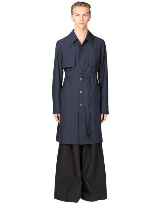 Шерстяное Пальто Loewe для него, цвет: Blue