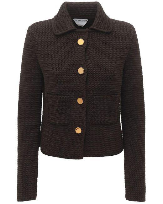 Пиджак Из Хлопка Bottega Veneta, цвет: Brown
