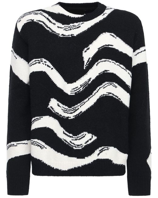 メンズ Stella McCartney Waves ウールニットセーター Multicolor