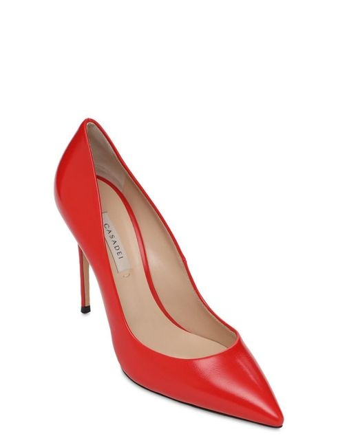Туфли Julia Из Лакированной Кожи 100mm Casadei, цвет: Red