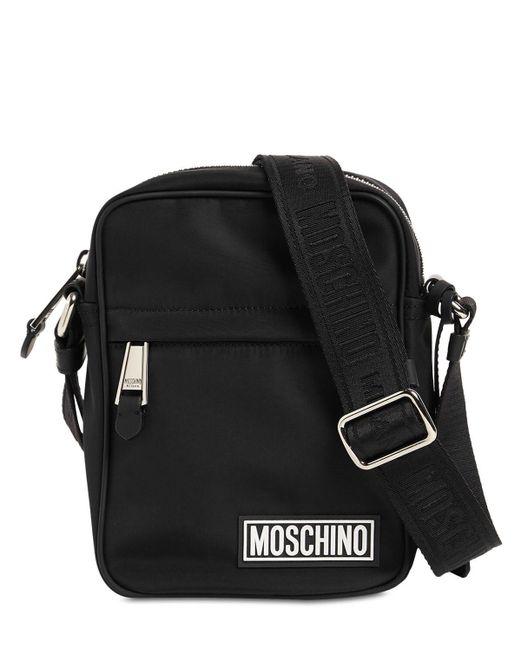 メンズ Moschino ナイロンクロスボディバッグ Black