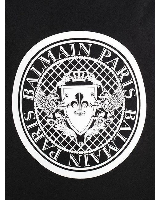 Balmain Logo Cotton Jersey Sleeveless T Shirt In Black Lyst