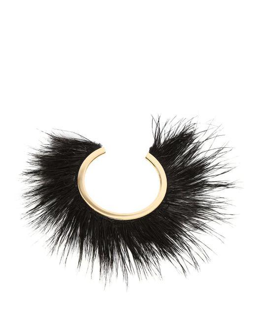 Isabel Marant | Black Feather-embellished Bracelet | Lyst
