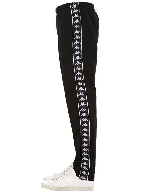 Kappa Black Banda Astoria Slim Fit Pants for men