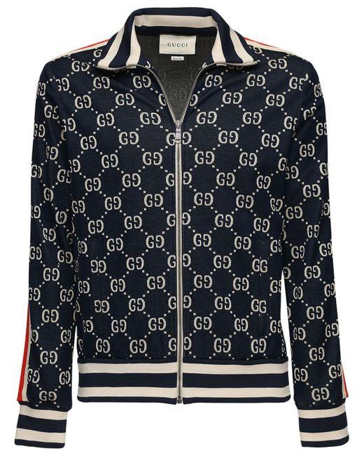 """Спортивная Куртка """"gg Supreme"""" На Молнии Gucci для него, цвет: Blue"""