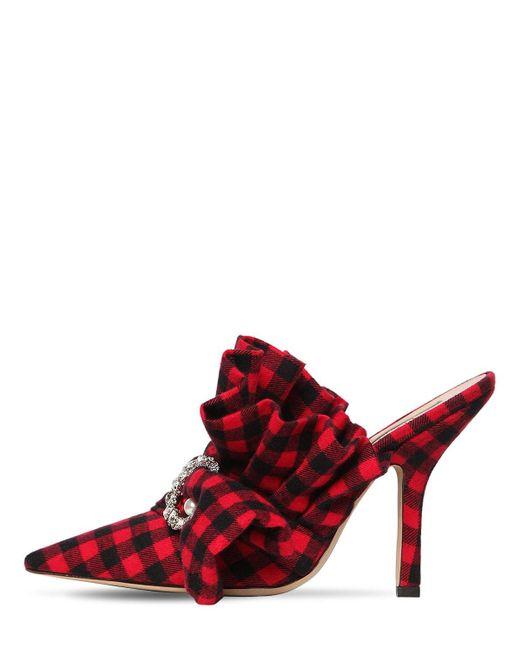 Туфли-мюли 100мм MIDNIGHT 00, цвет: Red