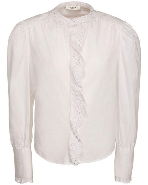 Étoile Isabel Marant Orlana レースコットンポプリンシャツ White