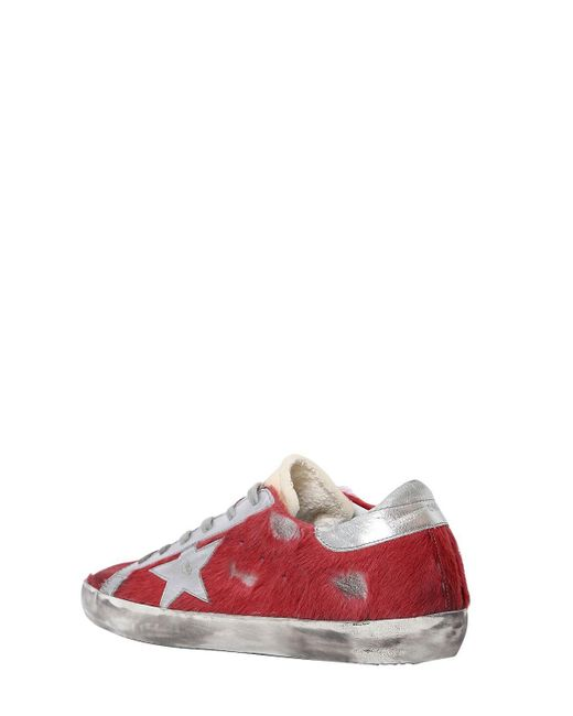 Golden Goose 20MM SUPER STAR ARCHIVE PONYSKIN SNEAKER I4yxGIoTNH