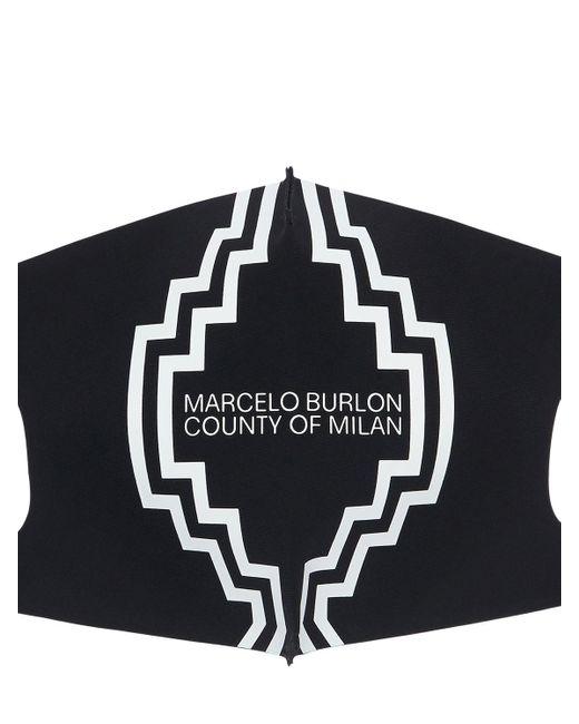 メンズ Marcelo Burlon アクティブマスク 3点セット Black