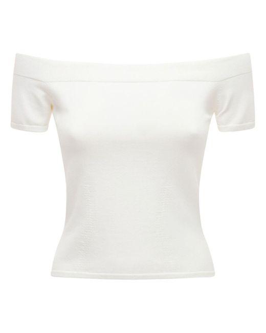 Трикотажный Топ Alexander McQueen, цвет: White