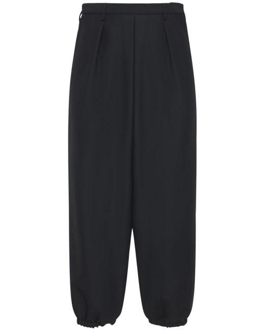 メンズ Saint Laurent Hakama ウール&モヘアパンツ Black