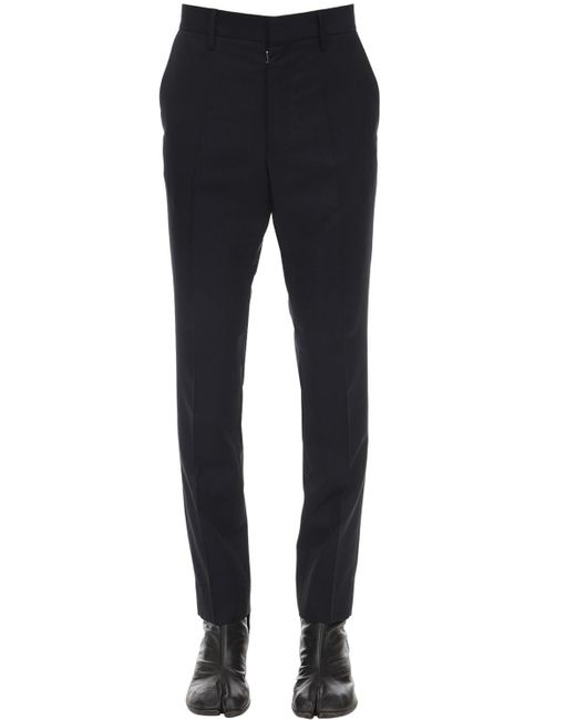 Maison Margiela Blue Wool & Mohair Poplin Pants for men
