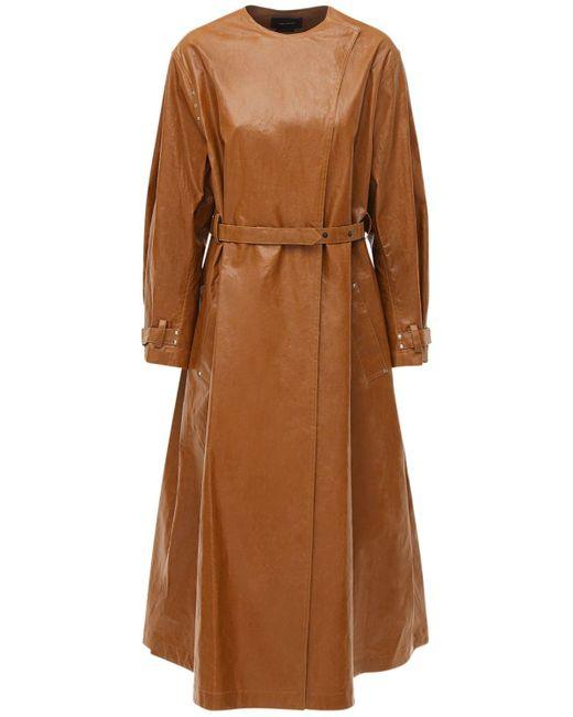 """Trench-coat En Lin Mélangé Enduit """"corly"""" Isabel Marant en coloris Brown"""