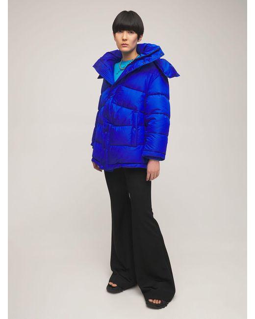 Balenciaga ナイロンパファージャケット Blue
