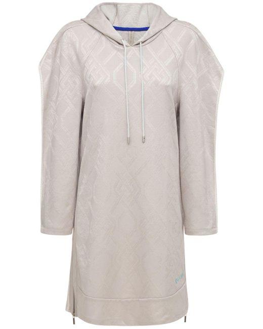 Koche フーデッドミニスウェットドレス Gray