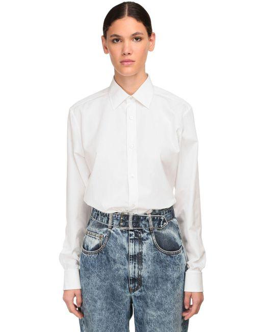 Maison Margiela コットンポプリンシャツ White