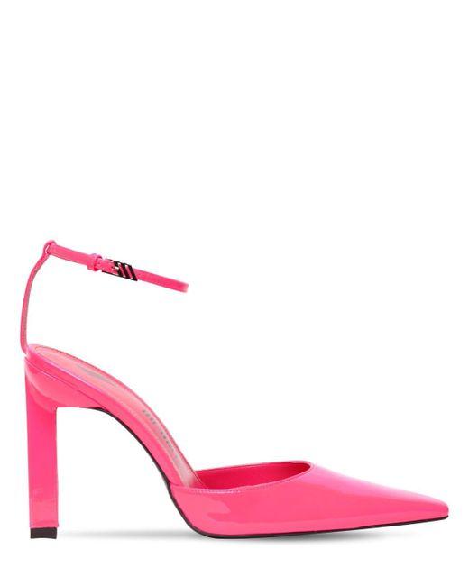 Туфли Из Лакированной Кожи 100mm The Attico, цвет: Pink