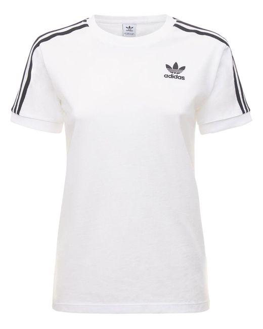 Adidas Originals 3 Stripes Tシャツ White