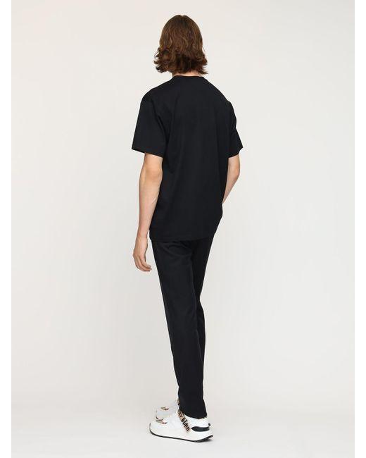 メンズ Burberry Tb コットンジャージーtシャツ Black