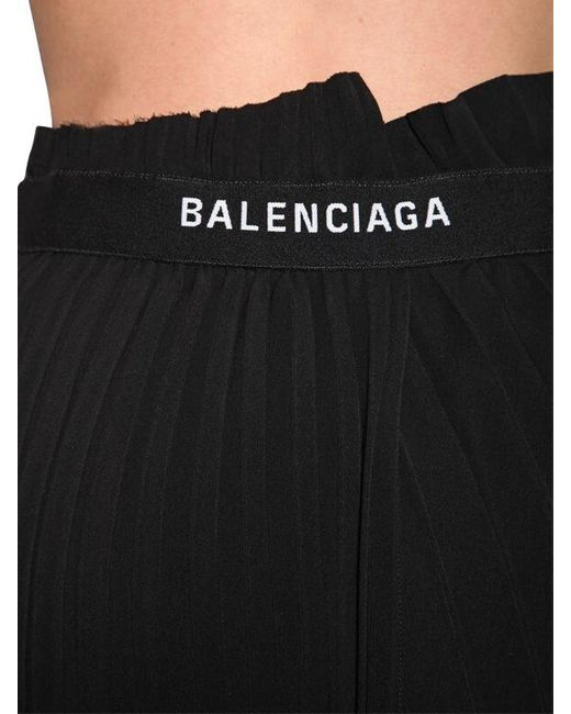 Balenciaga ジャージー プリーツミディスカート Black