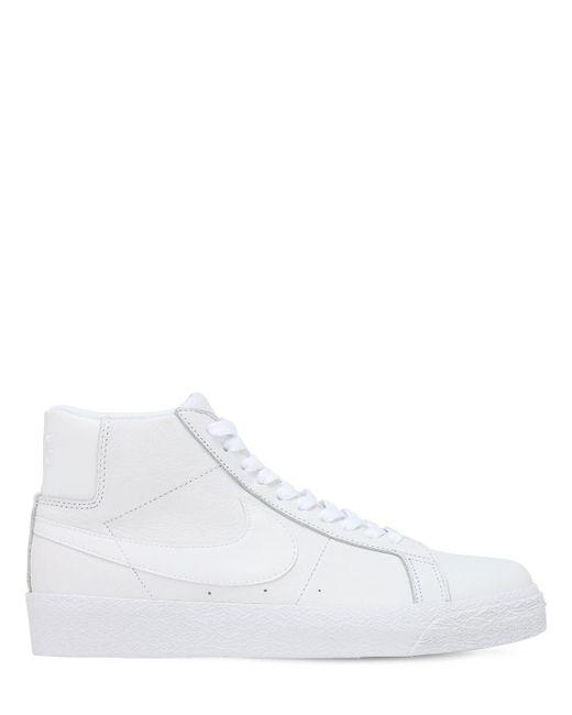 Кроссовки Sb Zoom Blazer Mid Nike, цвет: White