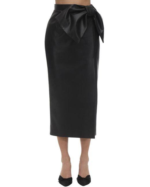High Waist Faux Leather Skirt Anouki, цвет: Black