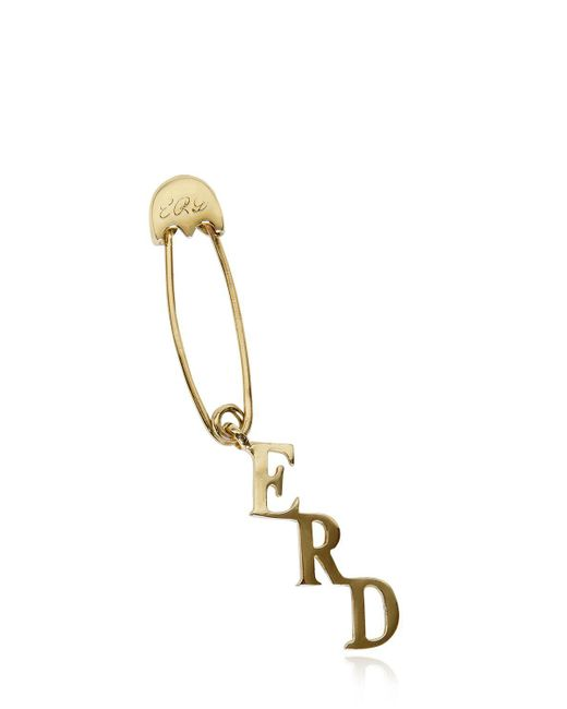 Enfants Riches Deprimes - Metallic Safety Pin Single Earring - Lyst