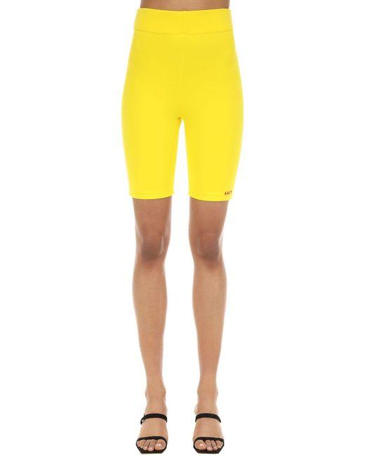 AALTO ストレッチジャージー バイカーショートパンツ Yellow