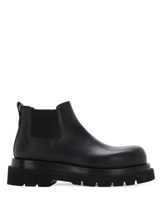 Кожаные Ботинки Chelsea Bottega Veneta для него, цвет: Black