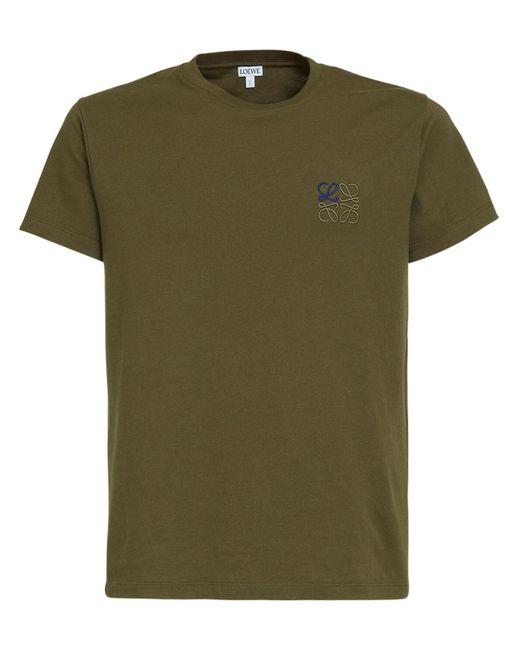 メンズ Loewe コットンジャージーtシャツ Green