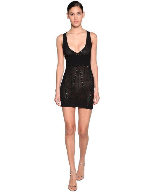 DSquared² Black Minikleid Aus Viskosemischstrick
