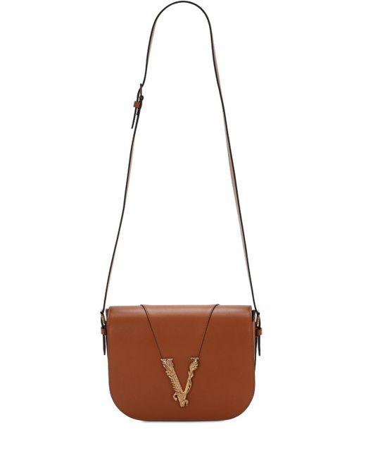 Versace Virtus サドルショルダーバッグ Brown