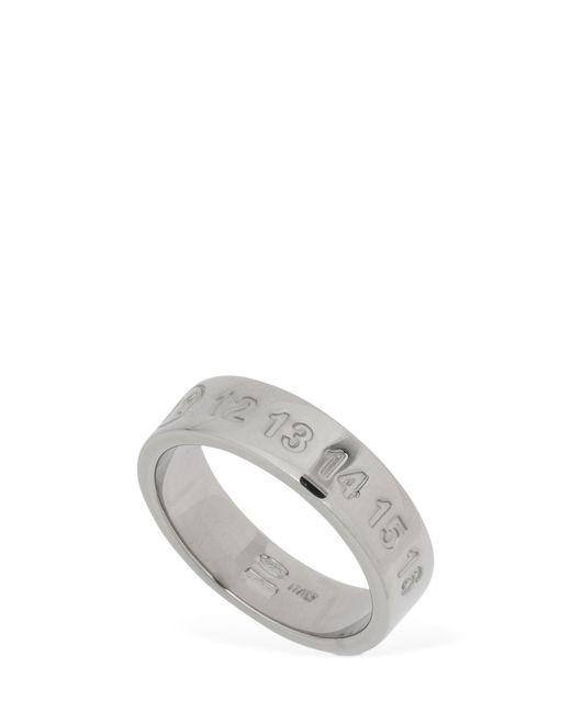 Maison Margiela Metallic Silver Thick Ring for men
