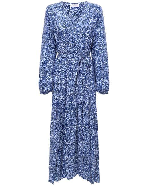 Lemlem Halima ビスコースローブドレス Blue