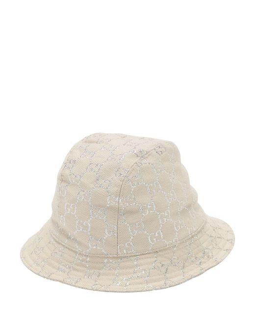 Панама С Узором GG Supreme Gucci, цвет: White
