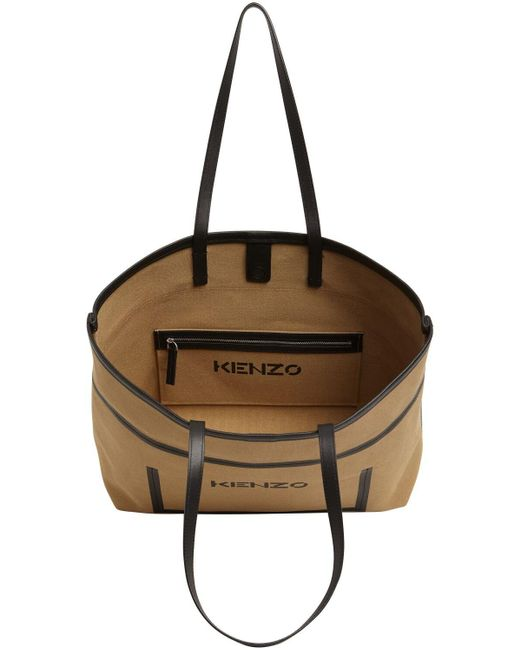 KENZO コットンキャンバストートバッグ Natural