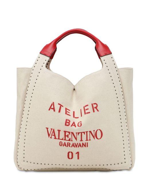 Valentino Garavani Atelier キャンバストートバッグ Multicolor