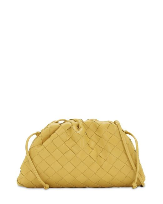 "Bottega Veneta Yellow Clutch Aus Intrecciato-leder ""the Mini Pouch"""