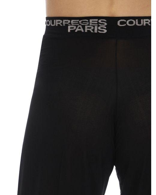 Courreges メッシュ ワイドレッグパンツ Black