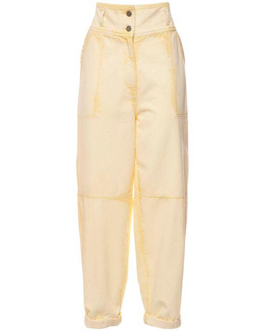 Alberta Ferretti コットンデニムジーンズ Yellow