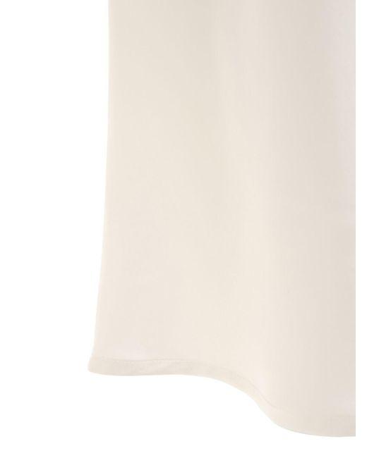 La Perla シルクミニローブ White
