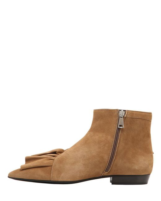 J.W.Anderson 10MM RUFFLE SUEDE ANKLE BOOTS tLkZu1