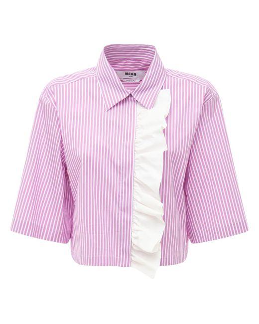 MSGM フリルポプリンシャツ Multicolor