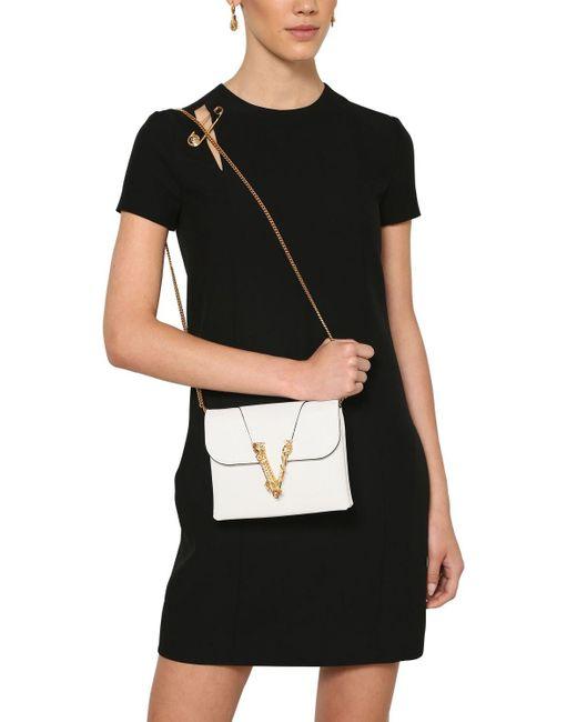 Versace Virtus スムースレザーチェーンバッグ White